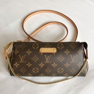 Louis Vuitton Monogram Eva Clutch crossbody Bag